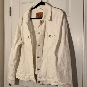 Levi's White Denim Plus Size Jacket 3X